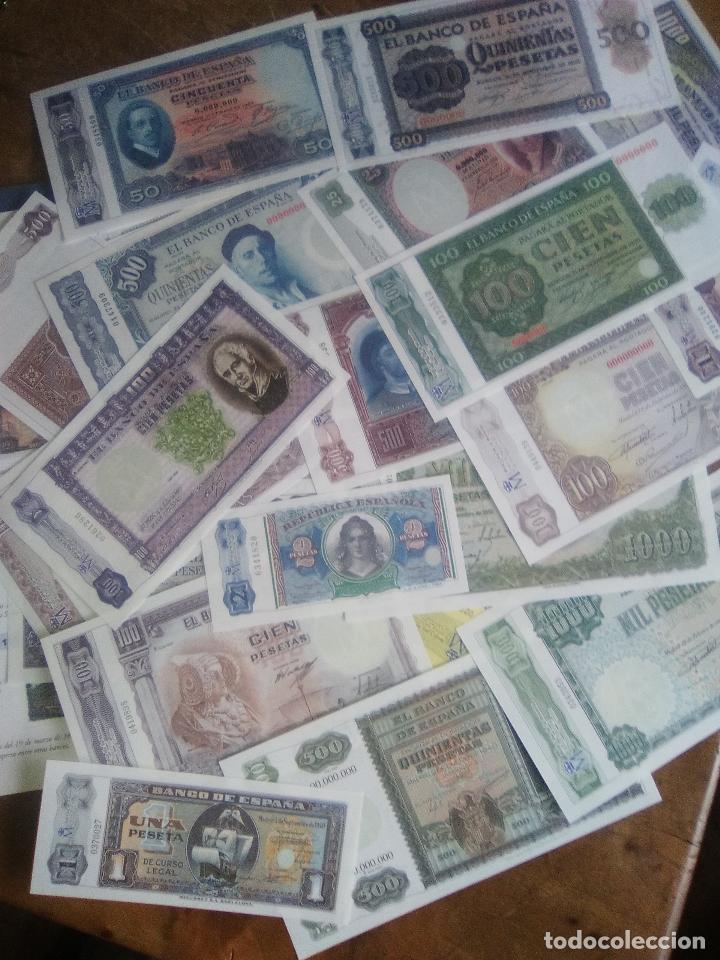 Reproducciones billetes y monedas: EL PAPEL DE LA PESETA UNA SELECCION EXCLUSIVA DE 40 BILLETES HISTORICOS COMPLETA EL PAIS FNMT - Foto 6 - 114531515