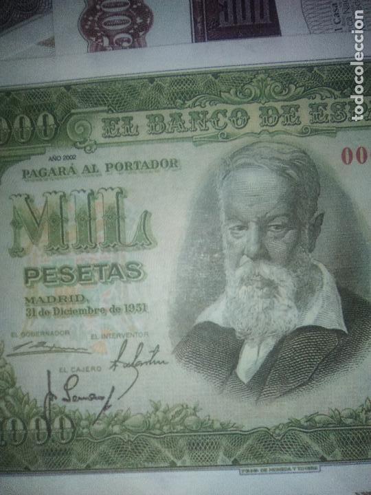 Reproducciones billetes y monedas: EL PAPEL DE LA PESETA UNA SELECCION EXCLUSIVA DE 40 BILLETES HISTORICOS COMPLETA EL PAIS FNMT - Foto 8 - 114531515