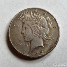 Reproducciones billetes y monedas: USA 1 DOLAR PLATA 1922 LIBERTY PEACE BATMAN MONEDA DE DOS CARAS. Lote 115120879