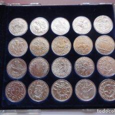 Reproducciones billetes y monedas: COLECCION 20 MONEDAS DE PLATA DE LA VANGUARDIA: MONEDAS CATALANAS.. Lote 115188759