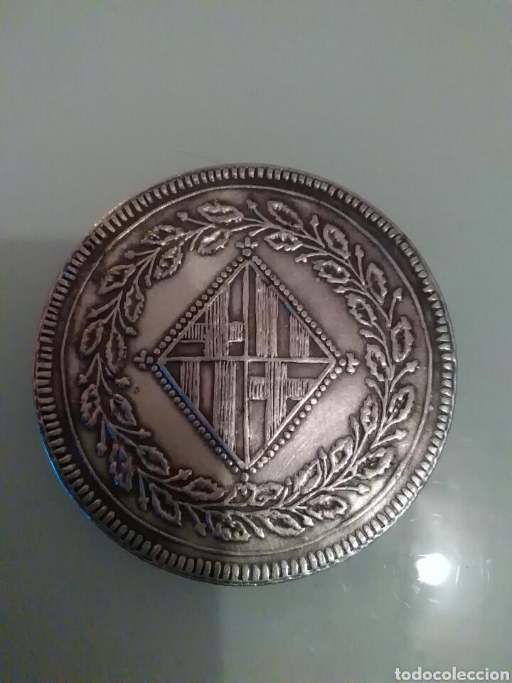 Reproducciones billetes y monedas: Réplica moneda 5 pesetas 1814 - Foto 2 - 115614170