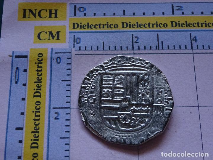 REPRODUCCIÓN MONEDA HISTORIA NUMISMÁTICA DE ESPAÑA. 4 REALES DE FELIPE II. 52 (Numismática - Reproducciones)