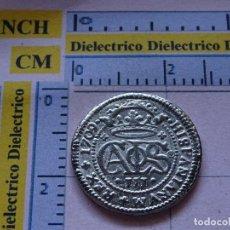 Reproducciones billetes y monedas: REPRODUCCIÓN MONEDA HISTORIA NUMISMÁTICA DE ESPAÑA. 2 REALES DEL ARCHIDUQUE CARLOS 1709. 56. Lote 115802399