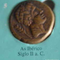Reproducciones billetes y monedas: AS IBÉRICO SIGLO II A.C. REPRODUCCIÓN MONEDA. Lote 118826967