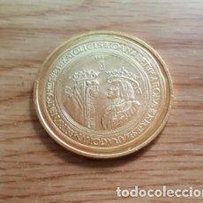 Reproducciones billetes y monedas: REPRODUCCION MONEDA JUANA Y CARLOS 100 DUCADOS. ZARAGOZA 1528. DORADO. MONEDA-67. Lote 118888467