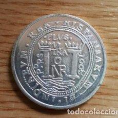 Reproducciones billetes y monedas: REPRODUCCION MONEDA CARLOS II 8 REALES. NUEVO REINO 1608. BAÑO DE PLATA. MONEDA-110 ,3. Lote 143709265