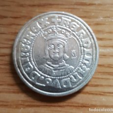Reproducciones billetes y monedas: REPRODUCCION MONEDA FERNANDO II 1/2 REAL. ZARAGOZA SIN FECHA. BAÑO DE PLATA. MONEDA-120 ,2. Lote 118995999
