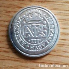 Reproducciones billetes y monedas: REPRODUCCION MONEDA 2 REALES. BARCELONA 1707. BAÑO DE PLATA. MONEDA-122. Lote 118998859