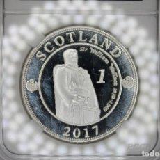 Reproducciones billetes y monedas: ESCOCIA WILLA MONEDAS ESCUDO EMBLEMA MEDALLA PLATEADA ASTILLA CASASCIUS. Lote 119267547