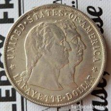 Reproducciones billetes y monedas: 1900 LAFAYETTE $1 DÓLAR COBRE. Lote 119298043