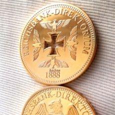 Reproducciones billetes y monedas: DOS MONEDAS ORO ALEMANIA 1988-89. Lote 120314482