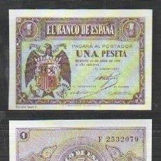 Reproducciones billetes y monedas: REPRODUCCION BILLETE. EL BANCO DE ESPAÑA. 1 PESETA 30 ABRIL 1938. - BILL-608. Lote 121657083