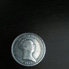 Reproducciones billetes y monedas: REPRODUCCIÓN MONEDA 1852 ISABEL LL. Lote 121887408