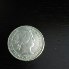 Reproducciones billetes y monedas: REPRODUCCIÓN MONEDA 1857 ISABEL LL. Lote 121888631