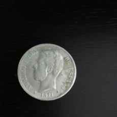 Reproducciones billetes y monedas: REPRODUCCIÓN MONEDA 1871 AMADEO L. Lote 121893784