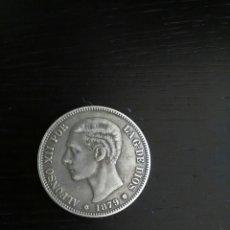 Reproducciones billetes y monedas: REPRODUCCIÓN MONEDA 1879 ALFONSO XLL. Lote 121895260