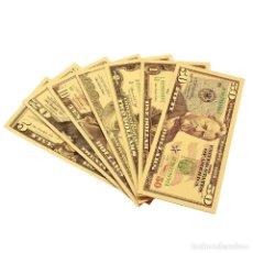 Reproducciones billetes y monedas: LOTE BILLETES ORO DOLAR 99,9% PURE GOLD 24K - SERIE COMPLETA. Lote 222107918