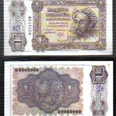 Reproducciones billetes y monedas: REPRODUCCION BILLETE. EL BANCO DE ESPAÑA. 1 PESETA MADRID NOVIEMBRE 1951. - BILL-699. Lote 122819311