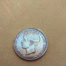 Reproducciones billetes y monedas: MONEDA ALFONSO XIII 1895 - 1 PESO - 5 PTAS - ISLA DE PUERTO RICO -. Lote 123755183