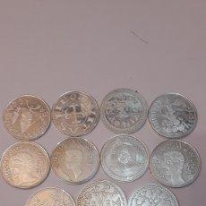 Reproducciones billetes y monedas: 13 ARRAS PLATA MONEDAS LUGO. Lote 124493559