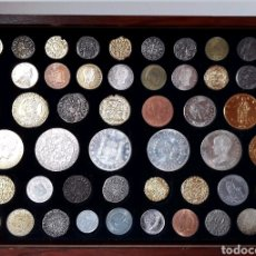 Reproducciones billetes y monedas: ESTUCHE COLECCIÓN DE 50 MONEDAS ESPAÑOLAS HISTÓRICAS. Lote 125050172