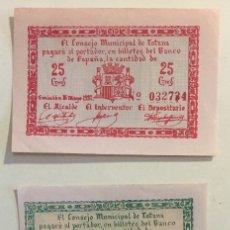 Reproducciones billetes y monedas: TOTANA- MURCIA- BILLETES GUERRA CIVIL 1.937. Lote 125730291