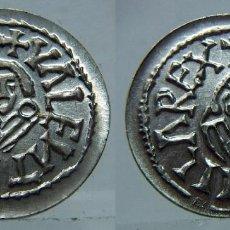 Reproducciones billetes y monedas: REPRODUCCIÓN MONEDA VISIGODA DE VALENTIA (VALENCIA) EN PLATA DE 800 MILÉSIMAS. Lote 126219827
