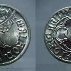 Reproducciones billetes y monedas: REPRODUCCIÓN TIMBRE ALFONSO III EL MAGNÁNIMO. CECA VALENCIA EN PLATA DE 800 MILÉSIMAS. Lote 126220263