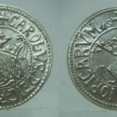 Reproducciones billetes y monedas: REPRODUCCIÓN CARLOS I CECA VALENCIA EN PLATA DE 800 MILÉSIMAS. Lote 126808095