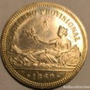 Reproducciones billetes y monedas: RÉPLICA MONEDA DE PLATA DE UNA PESETA GOBIERNO PROVISIONAL 1869.. Lote 130190303
