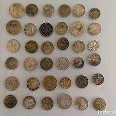 Reproducciones billetes y monedas: COLECCIÓN REPLICAS MONEDAS ANTIGUAS BAÑADAS EN PLATA. Lote 132939958