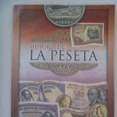 Reproducciones billetes y monedas: HISTORIA DE LA PESETA . ALBUM PARA COLECCIONAR LOS FACSIMIL DE BILLETES DE PESETA. SIN USAR.. Lote 133032574