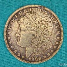 Reproducciones billetes y monedas: PRECIOSA MONEDA MORGAN 1886 ESTADOS UNIDOS DE AMERICA. Lote 143797824
