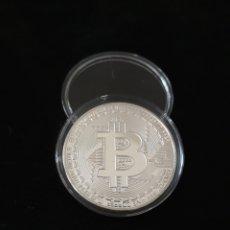 Reproducciones billetes y monedas: MONEDA PLATA BITCOIN. Lote 136464957