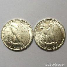 Reproducciones billetes y monedas: MEDIO DOLAR USA DE DOS CARAS IGUALES CON EL AGUILA. Lote 137893594
