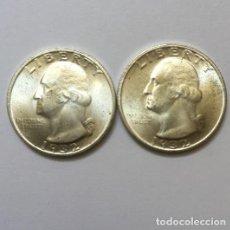 Reproducciones billetes y monedas: CUARTO DOLAR USA DE DOS CARAS IGUALES DE 1932 CON GEORGE WASHINGTON. Lote 137894194