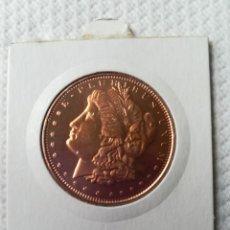 Reproducciones billetes y monedas: MONEDA CONMEMORATIVA EN ESTADOS UNIDOS 1/2 OZ MORAGAN.. Lote 139528318