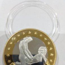 Reproducciones billetes y monedas: MONEDA SEX EUROS -KAMASUTRA-. Lote 140076762