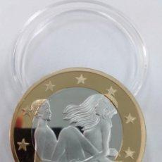 Reproducciones billetes y monedas: MONEDA SEX EUROS -KAMASUTRA-. Lote 180860962