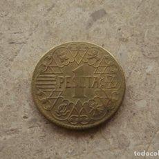 Reproducciones billetes y monedas: MONEDA 1 PESETA 1944. R DE REPRODUCCIÓN.. Lote 140866862
