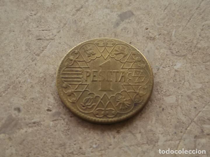 Reproducciones billetes y monedas: Moneda 1 peseta 1944. R de reproducción. - Foto 2 - 140866862