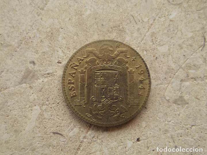 Reproducciones billetes y monedas: Moneda 1 peseta 1944. R de reproducción. - Foto 5 - 140866862