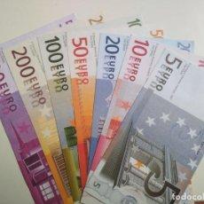 Reproducciones billetes y monedas: VENDO COPIA FACSÍMIL BILLETES EURO, 7 VALORES. EUROPEAN MONETARY INSTITUTE, 1997. Lote 141664870