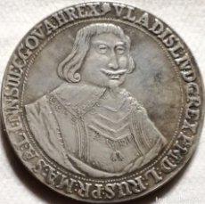 Reproducciones billetes y monedas: RÉPLICA MONEDA 1 TALAR. 1535. POLONIA. VLADISLAV. RARA. Lote 142303530