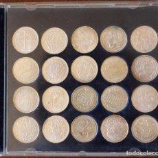 Reproducciones billetes y monedas: COLECCION DE 20 MONEDAS CATALANAS DE PLATA-LA VANGUARDIA. Lote 142671974