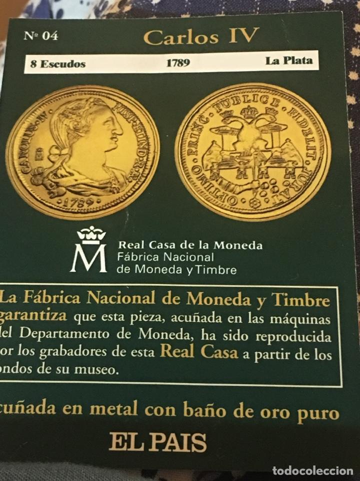 BONITA REPRODUCCIÓN OCHO ESCUDOS 1789 LA PLATA CARLOS IV (Numismática - Reproducciones)