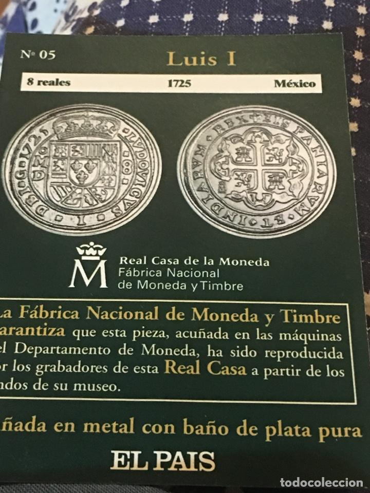MONEDAS REPRODUCCIÓN OCHO REALES 1725 MEXICO LUIS I (Numismática - Reproducciones)