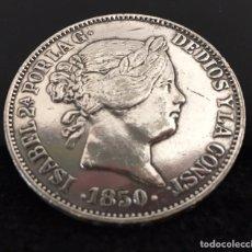 Reproducciones billetes y monedas: REPRODUCCIÓN PRECIOSA 20 REALES ISABEL LL 1850. Lote 143043737