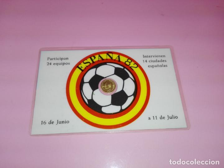 Reproducciones billetes y monedas: TARJETA.CONMEMORATIVA-MUNDIAL 82-ATLÉTICO DE MADRID-ESTADIO VICENTE CALDERÓN-NUEVA-VER FOTOS. - Foto 2 - 143054182