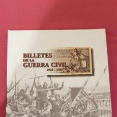 Reproducciones billetes y monedas: ÁLBUM BILLETES DE LA GUERRA CIVIL, DE EL PAÍS, CON 28 BILLETES. Lote 143084718